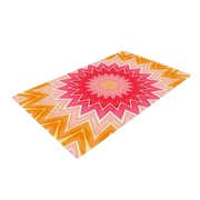 KESS InHouse You are my Sunshine Pink/Orange Area Rug; 4' x 6'
