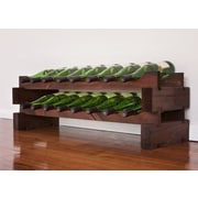 Vinotemp 16 Bottle Tabletop Wine Rack; Stained