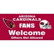 Fan Creations NFL Fans Welcome Graphic Art Plaque; Arizona Cardinals