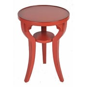 Ultimate Accents Costal End Table; Red