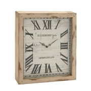 Woodland Imports Timelessly Rustic Wood Wall Clock; Off White