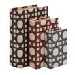 Woodland Imports 3 Piece Beautiful and Trendy Wood Vinyl Book Box Set