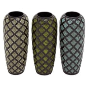Woodland Imports Stylish and Elegant Ceramic Vase (Set of 3)