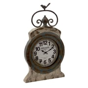 Woodland Imports Rustic and Artistic Metal Wall Clock