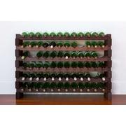 Vinotemp 72 Bottle Wine Rack; Stained