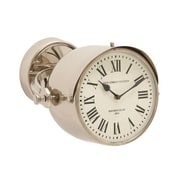 Woodland Imports Simply Exquisite Stainless Steel Wall Clock