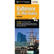 Universal Map Baltimore 30 Mile Radius Map Fold Map
