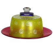 Golden Hill Studio Frosted Curl Cheese Cake Stand; Yellow