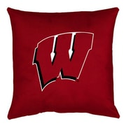 Sports Coverage NCAA Wisconsin Throw Pillow