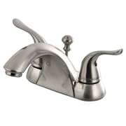Kingston Brass Yosemite Double Handle Centerset Bathroom Faucet w/ Pop-Up Drain; Satin Nickel