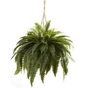 Nearly Natural 6788 Double Giant Boston Fern Hanging Basket 29 x 36 inch Green