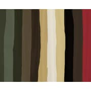 Green Leaf Art Stripes 1 Painting Print on Wrapped Canvas