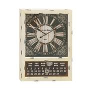 Woodland Imports Metal Calendar Oversized 28'' Clock