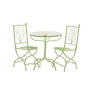 Woodland Imports 3 Piece Simply Too Cool Pub Table Set; Green