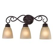 Cornerstone Lighting Chatham 3 Light Vanity Light; Oil Rubbed Bronze/Light Amber