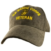 MotorHead Products US Military Veteran Cap; Marine