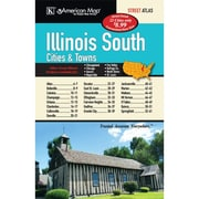 Universal Map Illinois Southern Cities and Towns Atlas