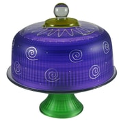 Golden Hill Studio Frosted Curl Cake Stand; Purple
