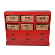 Jeffan Nantucket Storage Cabinet; Antique Red