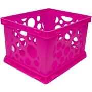 STOREX Large Storage Crate (Set of 6); Neon Pink