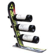 Ski Chair Snow 3 Bottle Tabletop Wine Rack; Black Fisher