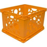 STOREX Large Storage Crate (Set of 6); Neon Orange