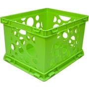 STOREX Large Storage Crate (Set of 6); Black