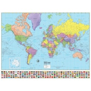 Universal Map Advanced Political World Laminated Rolled Map