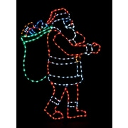 Brite Ideas Santa with Bag LED Light