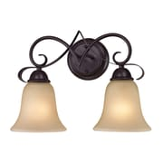 Cornerstone Lighting Brighton 2 Light Vanity Light; Oil Rubbed Bronze/Light Amber