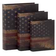 Woodland Imports 3 Piece Contemporary Styled Wood Book Box Set