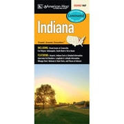 Universal Map Indiana Laminated Map