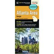Universal Map Atlanta Georgia Area Laminated Map