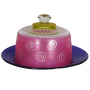 Golden Hill Studio Frosted Curl Cheese Cake Stand; Pink