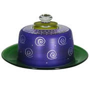 Golden Hill Studio Frosted Curl Cheese Cake Stand; Purple