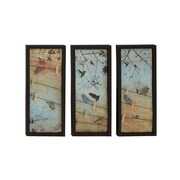 Woodland Imports Metal 3 Piece Wall Art Set