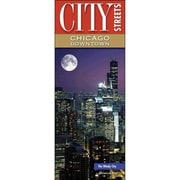Universal Map Chicago Downtown City Streets Laminated Map