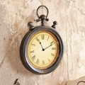 Cape Craftsmen Antique Stop Watch Metal Wall Clock