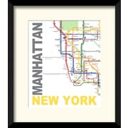 PTM Images Manhattan New York Framed Graphic Art