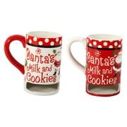 DEI 2 Piece Ceramic Milk and Cookie 14 Oz. Mug Set
