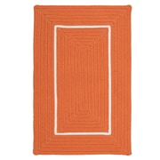 Colonial Mills Doodle Edge Orange Border in Border Indoor/Outdoor Area Rug; 5' x 7'