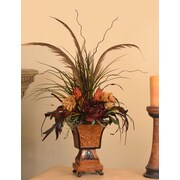 Floral Home Decor Pheasant Feather Floral Design with Natural Accents
