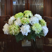 Floral Home Decor Hydrangea Silk Flower Arrangement