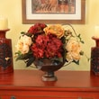 Floral Home Decor Peonies, Hydrangea and Rose Silk Flower Bouquet