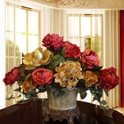 Floral Home Decor Elegant Centerpiece with Hydrangea, Magnolia and Rose