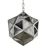 A&B Home 1 Light Mini Pendant; 17.3'' H x 13.8'' W x 13.8'' D