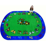 Kids World Critters Kids Rug; Oval 8' x 10'