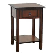 Just Cabinets Stolik End Table; Chesnut