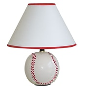 ORE Furniture Ceramic Baseball 5.75'' H Table Lamp with Empire Shade