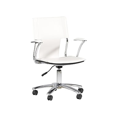 Chintaly Mid Back Office Chair with Swivel; White